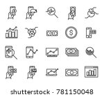 simple collection of online... | Shutterstock .eps vector #781150048