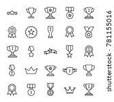 set of premium award icons in... | Shutterstock .eps vector #781155016