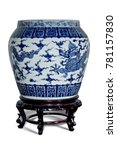 Blue And White Porcelain Drago...