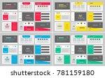 business presentation slides... | Shutterstock .eps vector #781159180