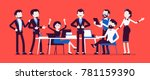 successful team gathering.... | Shutterstock .eps vector #781159390