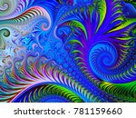 abstract fractal background... | Shutterstock . vector #781159660