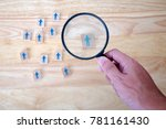 human resource management and... | Shutterstock . vector #781161430