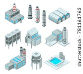 set of industrial or factory... | Shutterstock .eps vector #781161763