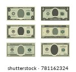 template of fake money. vector... | Shutterstock .eps vector #781162324