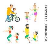 set of family couples in...   Shutterstock .eps vector #781162369
