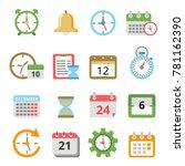time management symbols.... | Shutterstock .eps vector #781162390