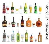 illustrations of alcoholic... | Shutterstock .eps vector #781162654