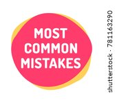 most common mistakes. vector...