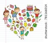 happy birthday vector design... | Shutterstock .eps vector #781166014
