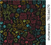 happy birthday vector design... | Shutterstock .eps vector #781166170