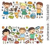 children zoo pet shop... | Shutterstock .eps vector #781166560