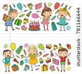 happy birthday vector design... | Shutterstock .eps vector #781166644