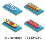 isometric water transport set...   Shutterstock .eps vector #781184260