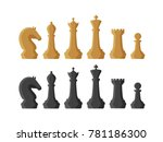 chess pieces. game concept.... | Shutterstock .eps vector #781186300