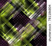 seamless pattern mixed design.... | Shutterstock . vector #781186804