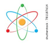 atom symbol on a white... | Shutterstock .eps vector #781187614