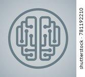 vector editable strokes... | Shutterstock .eps vector #781192210