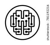 vector editable strokes icon of ... | Shutterstock .eps vector #781192216