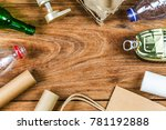 eco concept with recycling... | Shutterstock . vector #781192888