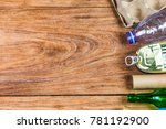 eco concept with recycling... | Shutterstock . vector #781192900