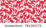 dog head french bulldog vector... | Shutterstock .eps vector #781202173
