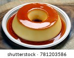 condensed milk pudding and eggs | Shutterstock . vector #781203586