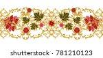 seamless pattern. golden...   Shutterstock . vector #781210123