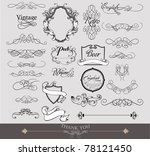 wedding elements | Shutterstock .eps vector #78121450