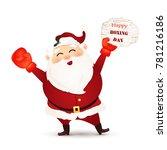 happy boxing day. cartoon cute  ... | Shutterstock . vector #781216186