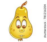 cartoon pear character. happy... | Shutterstock .eps vector #781216204