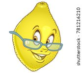 cartoon lemon citrus character... | Shutterstock .eps vector #781216210