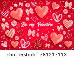 happy saint valentines day... | Shutterstock .eps vector #781217113