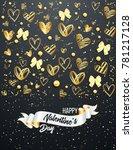 happy saint valentine's day... | Shutterstock .eps vector #781217128