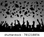 graduation ceremony background | Shutterstock . vector #781218856