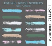 watercolor  ink or paint brush... | Shutterstock .eps vector #781219744