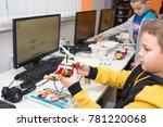 minsk  belarus. december  2017. ... | Shutterstock . vector #781220068