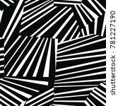 monochrome seamless geometric... | Shutterstock .eps vector #781227190