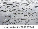 water drops on steel background.... | Shutterstock . vector #781227244