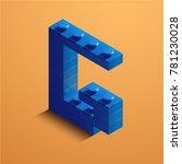 3d isometric letter g of the... | Shutterstock .eps vector #781230028
