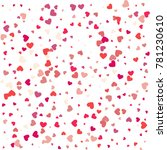 heart confetti of valentines... | Shutterstock .eps vector #781230610