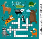 printable animal crossword.... | Shutterstock .eps vector #781230664