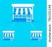 franchise banner. chain of... | Shutterstock .eps vector #781231198