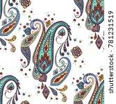 paisley seamless pattern.... | Shutterstock .eps vector #781231519