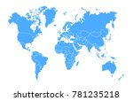 world map vector | Shutterstock .eps vector #781235218