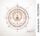 mechanical scheme  engineering... | Shutterstock . vector #781235854