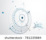 technical plan  abstract... | Shutterstock . vector #781235884