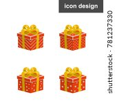 gift boxes icons   Shutterstock .eps vector #781237330