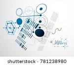 mechanical engineering... | Shutterstock . vector #781238980