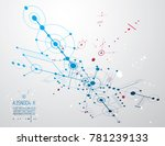 futuristic abstract technology... | Shutterstock . vector #781239133